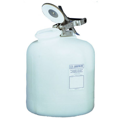 Polyethylene Self-Close Corrosive Waste Can 19ltr - 12765