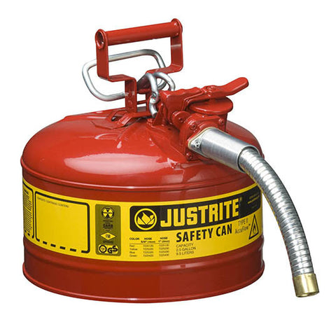 Steel Type II Safety Can for Flammables 9.5ltr - 7225130Z
