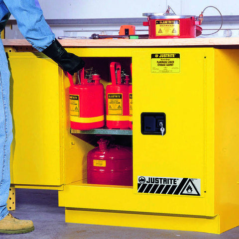 FM Approved Flammable Liquids Under-Bench Cabinet 889mm L x 559mm W x 889mm H - 8923001
