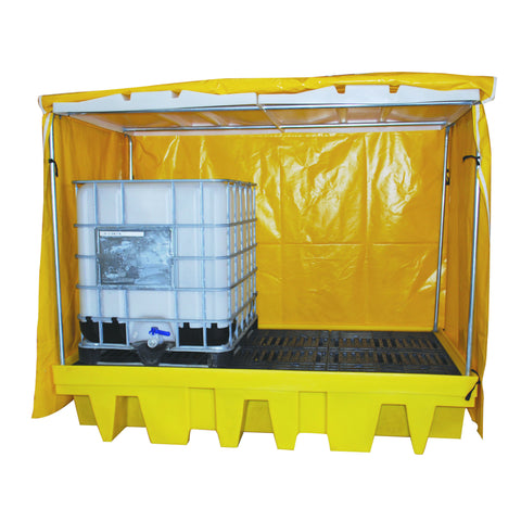 IBC Spill Pallet for 2 x 1000ltr IBC covered - BB2C