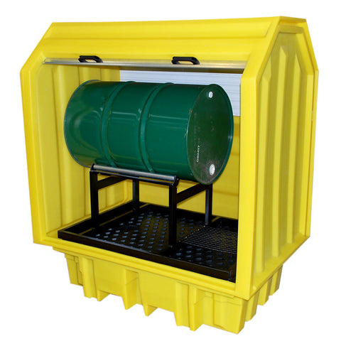 Drum Spill Pallet for 1 x 205ltr horizontal drum hard cover - BP2HCH