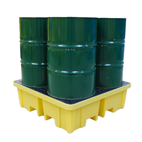 4 Way Entry Spill Pallet for 4 x 205ltr drums - BP4FW