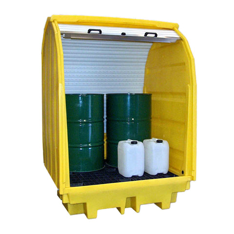 Drum Spill Pallet for 4 x 205ltr drums hard cover - BP4HC
