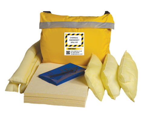 Chemical Spill Kit Vinyl bag with shoulder strap - 50ltr absorbency - C50SK