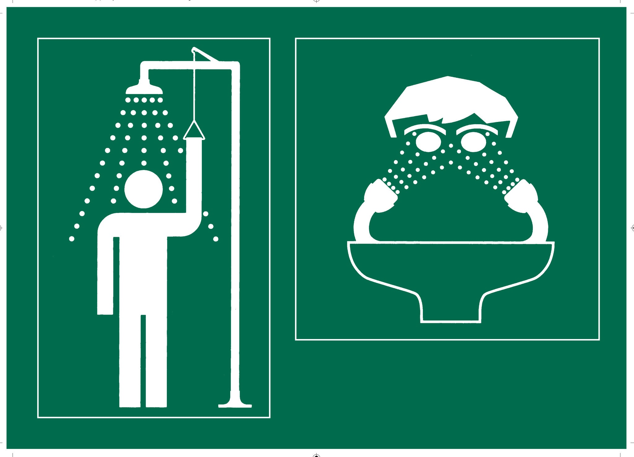 Signage Combined Shower Amp Eyewash Sign Esews