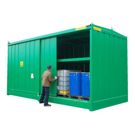 Bunded Store 96 Drums or 24 IBC - DPU64-16PB
