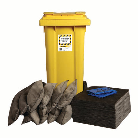 Maintenance Spill Kit 2 Wheel bin with hinged lid - 120ltr absorbency - M120SK