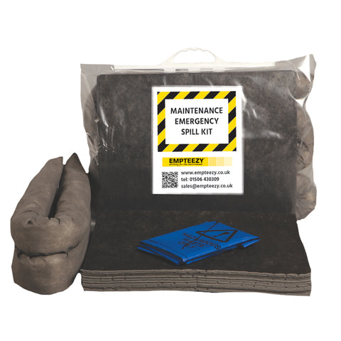 Maintenance Spill Kit Clip top bag with carry handle - 15ltr absorbency - M15SK
