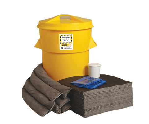Maintenance Spill Kit Twin handles cylindrical bin - 90ltr absorbency - M90SK