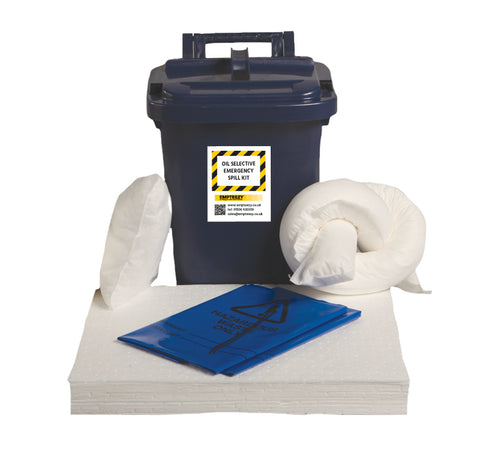 Oil Selective Spill Kit Caddy bin - 25ltr absorbency - OS25SK