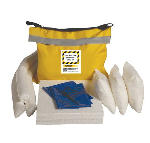 Oil Selective Spill Kit Vinyl bag with shoulder strap - 50ltr absorbency - OS50SK
