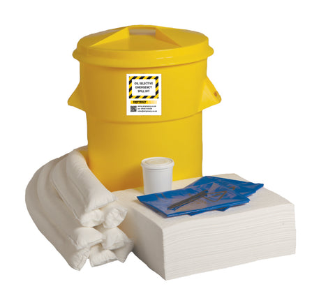 Oil Selective Spill Kit Twin handles cylindrical bin - 90ltr absorbency - OS90SK
