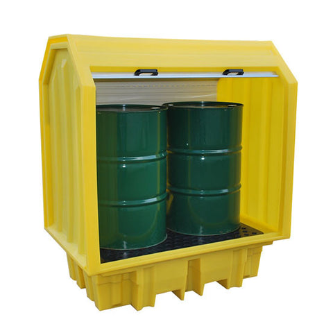 Drum Spill Pallet for 2 x 205ltr drums hard cover - BP2HC