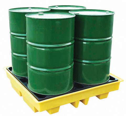 Drum Spill Pallet for 4 x 205ltr drums low profile - BP4L