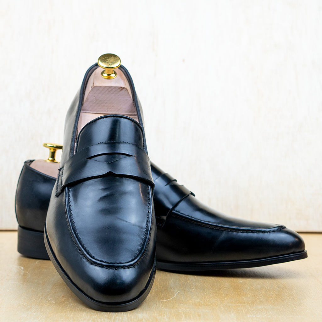 Box Penny Loafer Black