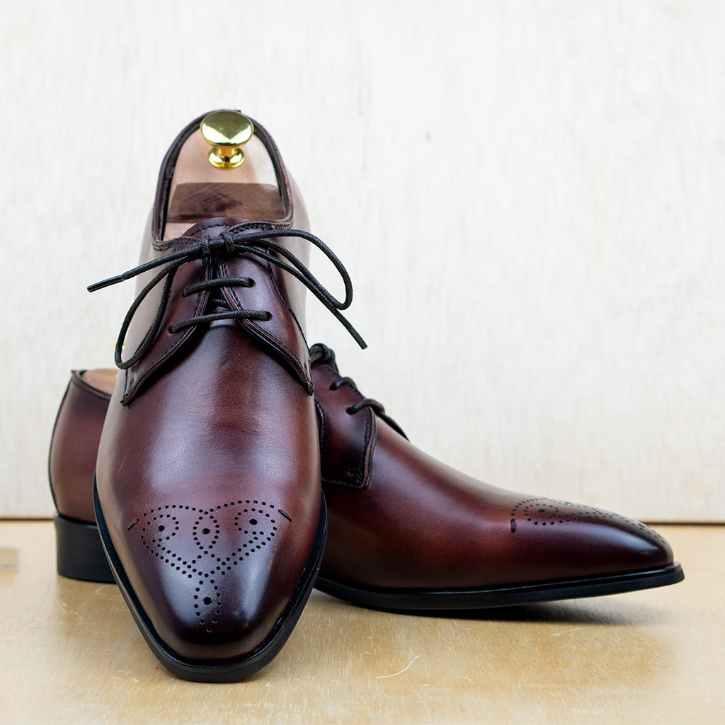 2-eyelet Derby Brogue Tan