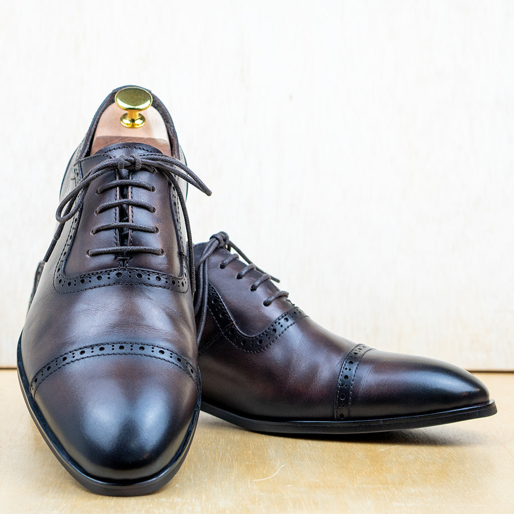 Quarter Brogue Captoe Coffee