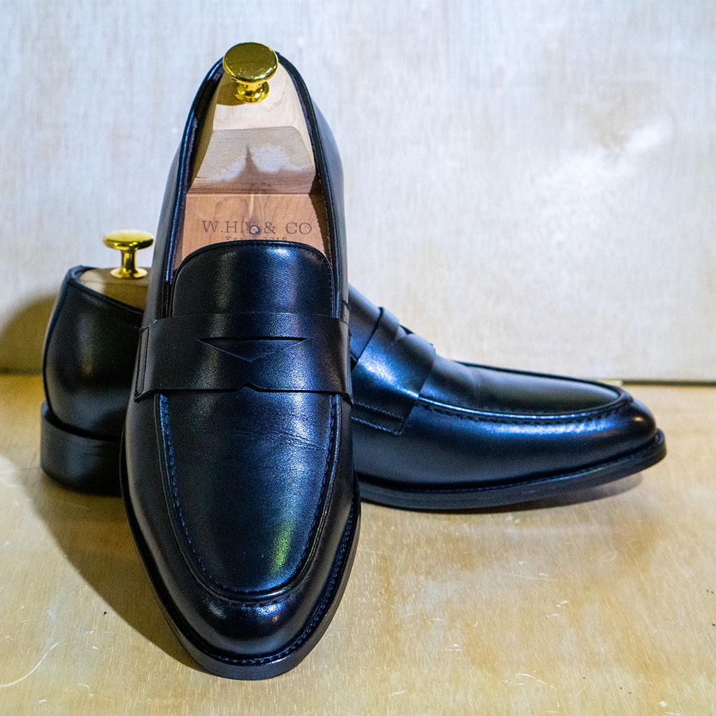 Calf Penny Loafer Black