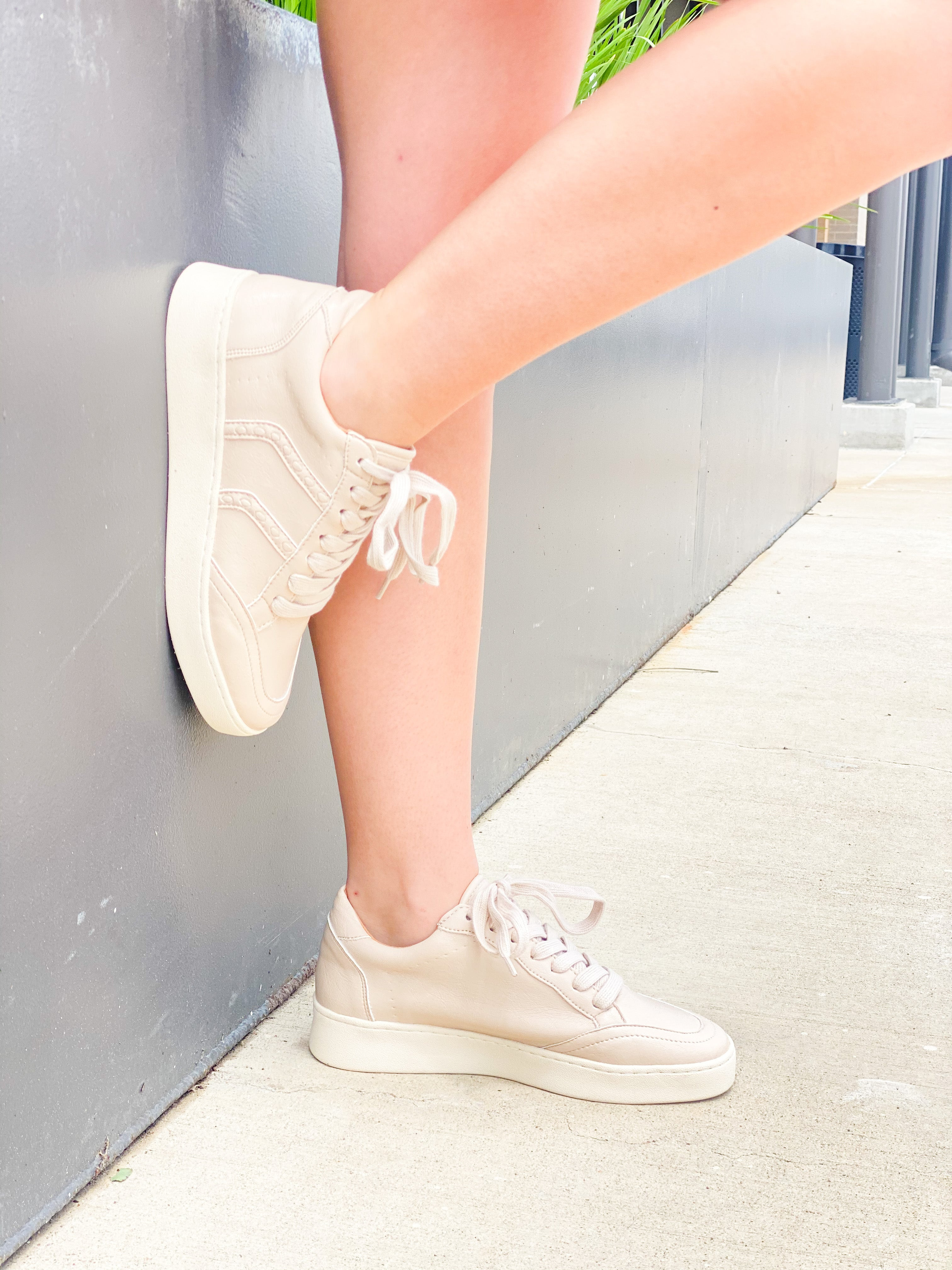 Faux Leather Lace Up Sneaker