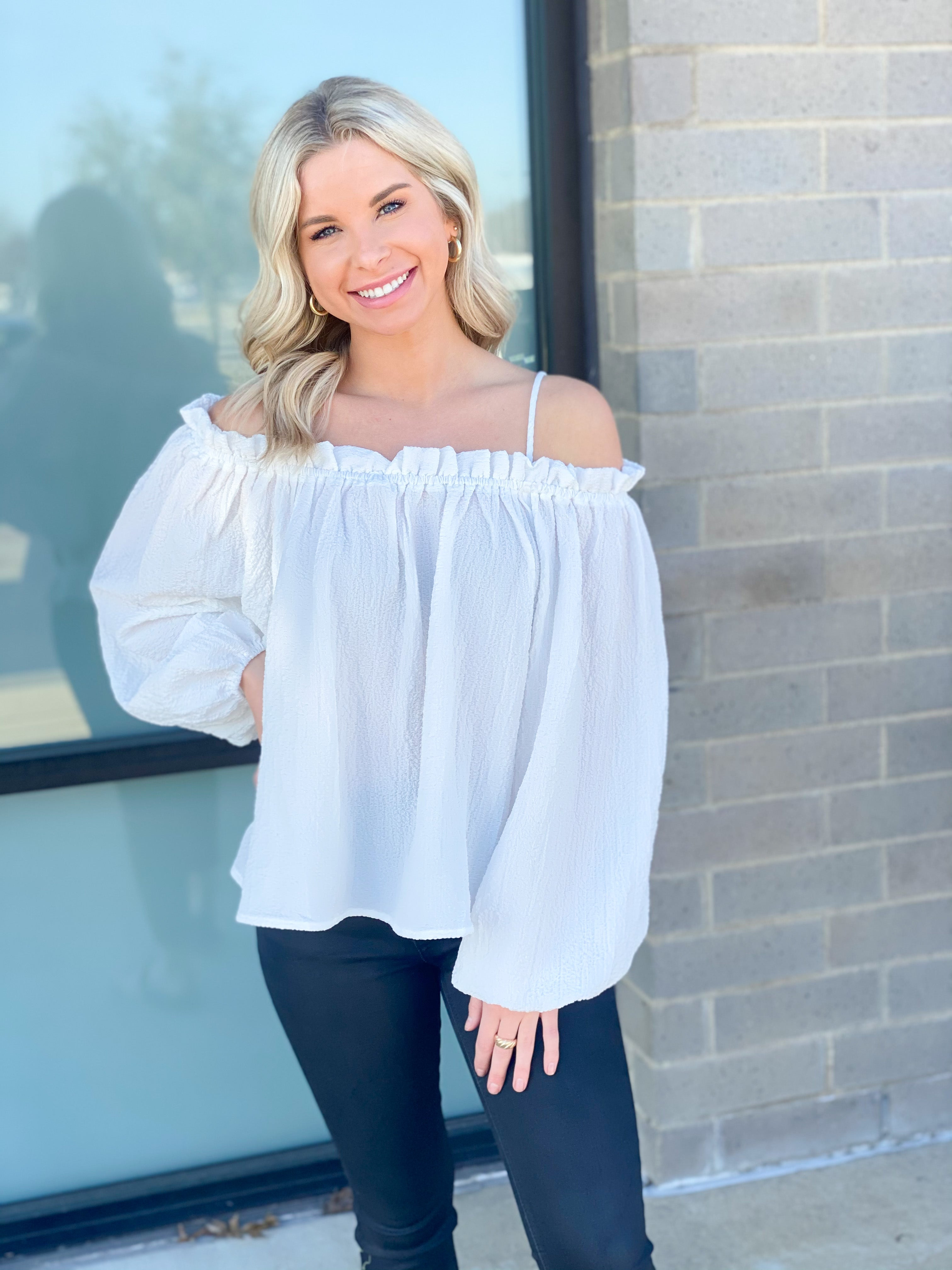 OTS Crepe Blouse with Straps