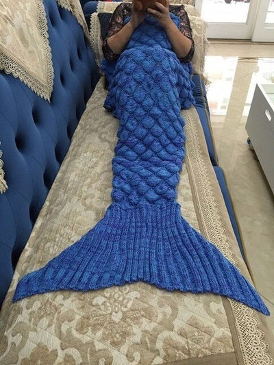 Mermaid Blanket Mermaid Tail Wool For Sofa Cover New Style Trend Adult Children Relax Sleeping Nap Colorful Blankets