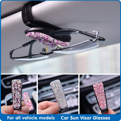 Car Sun Visor Glasses Case Auto Sun Shield Sunglasses Clips Bracket for Woman Sunshade Glasses Holder Auto interior Accessories