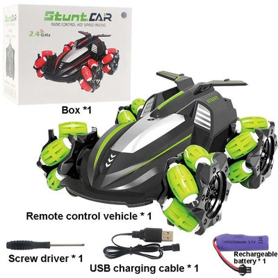 Remote Control Stunt Car Gesture Induction Twisting Off-Road Vehicle Light Drift Dancing Side Driving RC Toy Gift for Kids
