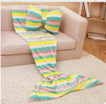 mermaid blanket adult fleece mermaid tail blanket mermaid blanket for children kids throw bed Wrap super soft sleeping bag