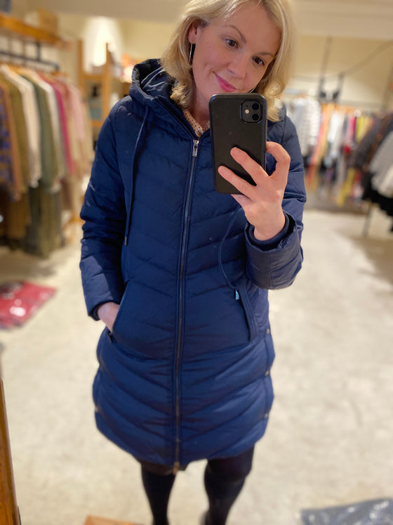 Ilse Jacobsen Peppy Puffa coat (Navy)