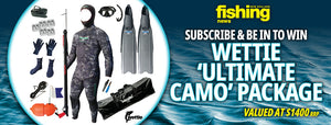 June Subscribe & Win: Wettie Ultimate Camo spearfishing kit