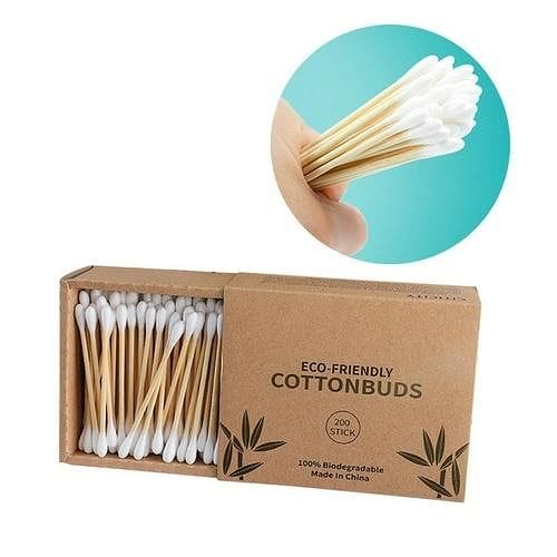 Biodegradable Bamboo Cotton Swabs | Pack of 300 - Hygiene Village