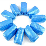 Disposable Shoe Protectors | Plastic Waterproof Cover | 100 Pack - Hygiene Village