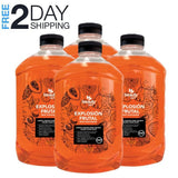 Liquid Hand Soap Refill | 4 Pack | 256 oz | Fruit Explosion Scent - Hygiene Village