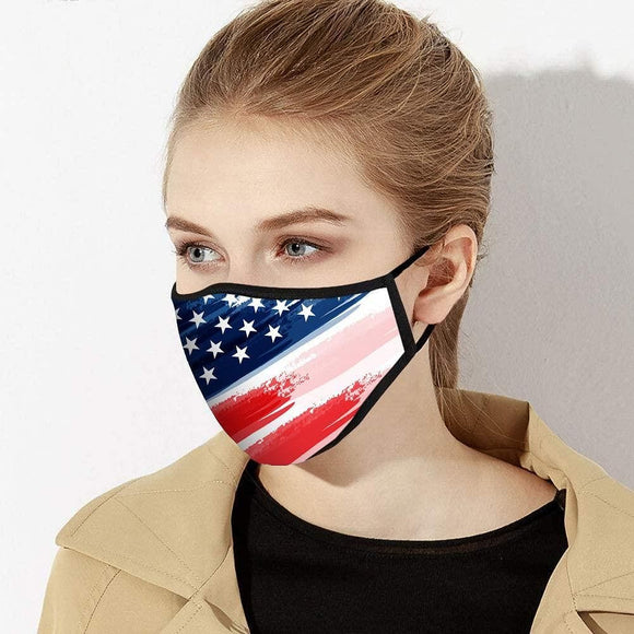 Face Mask | American Flag | Small or Large | Made in USA - Hygiene Village