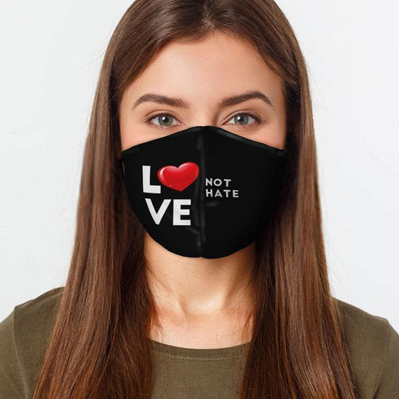 Face Mask | Love Not Hate Message | Various Sizes - Hygiene Village