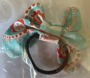 Hair Accessory - Elastic with bow - Red and blue