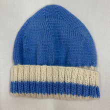 Load image into Gallery viewer, Hat - beanie - blue and white