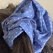 Load image into Gallery viewer, Hair Accessory - Scrunchie - faded denim.