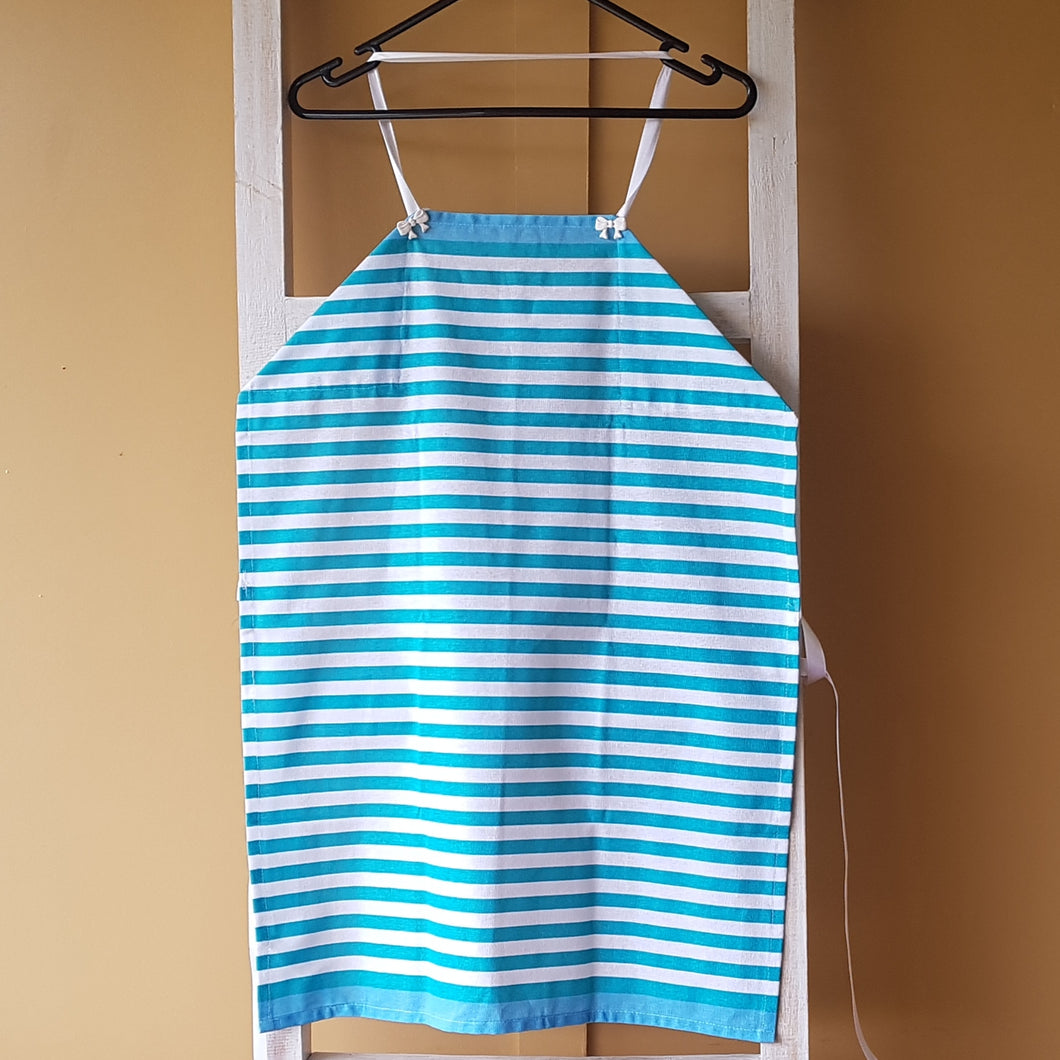 Apron - Teal stripes