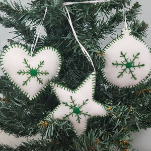 Christmas Decorations - Snow Flake Trio