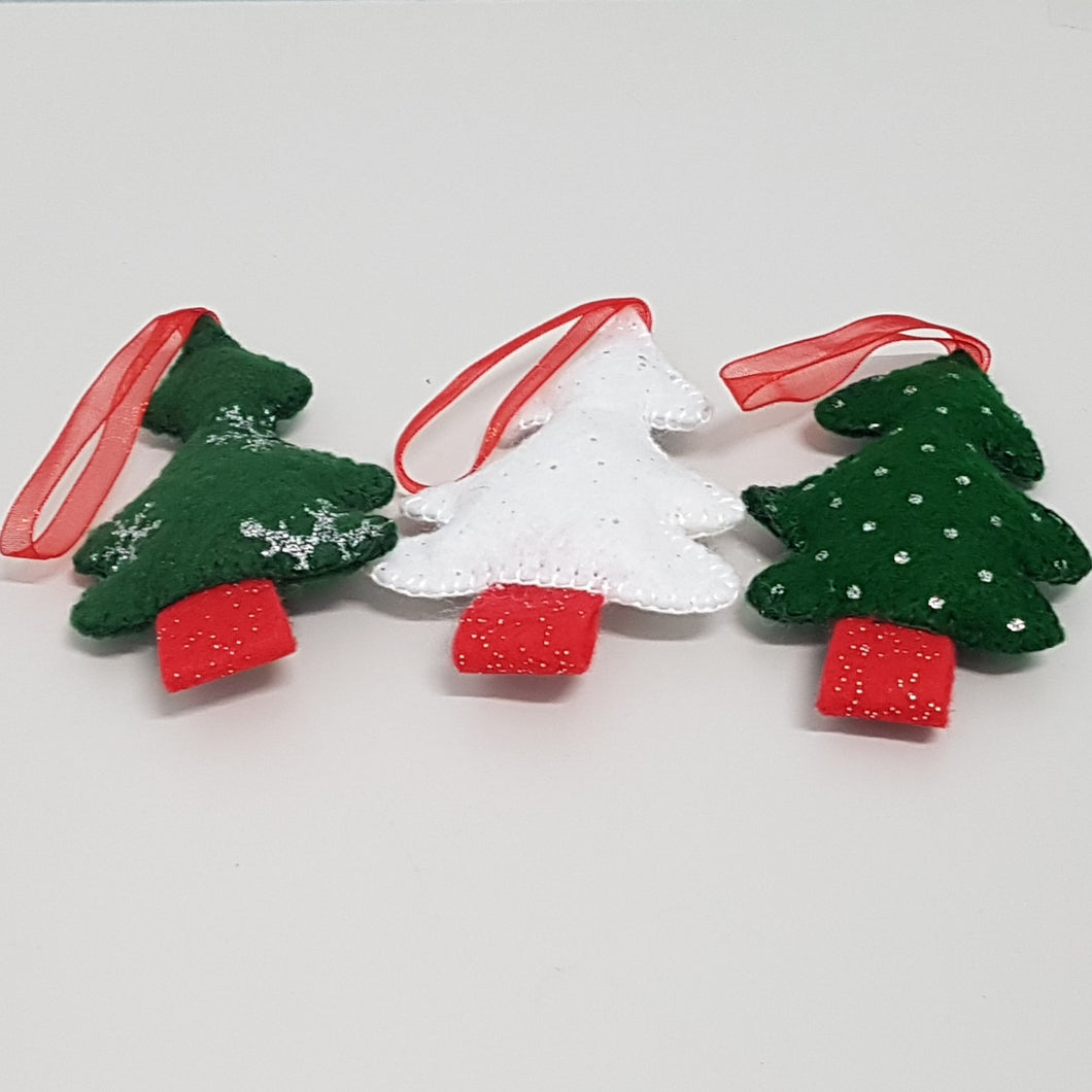 Christmas Decorations - Trees (pkt 3)