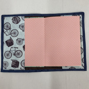 Stationery - Covered Notebook - pale blue with dark blue trim