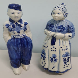 Blauw Delfts - Dutch Couple Figurines