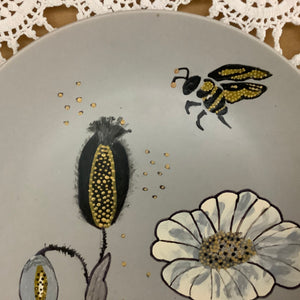Plate - bread and butter - hand painted