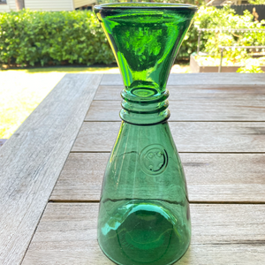 Decor - green glass carafe