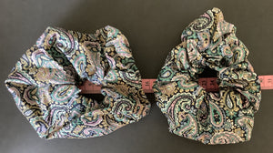 Hair accessory - Scrunchie - paisley print.