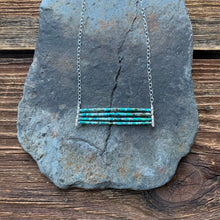Load image into Gallery viewer, Turquoise aqua layered necklace. Turquoise beads with accents of silver.