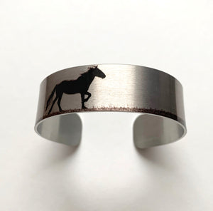 """On top of the Pryors""  Aluminum Cuff Bracelet."