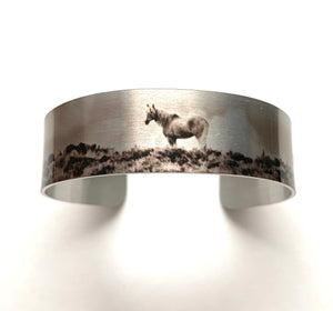 """Corona of the Sand Wash Basin"" Aluminum Cuff Bracelet."