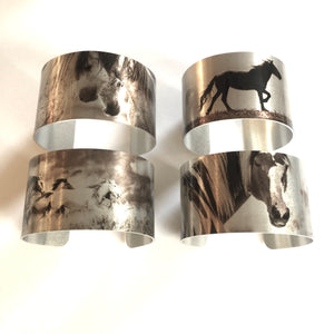 """The Boys are Back in Town""""  Aluminum Cuff Bracelet."